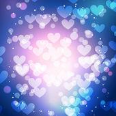 Heart background with bokeh style effect — Stok Vektör