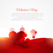 Valentine day background with hearts — Stock Vector