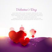 Valentine day card with heart illustration — Stock Vector