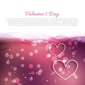 Beautiful valentine day background with hearts — Stock Vector