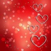 Güzel kalp illüstrasyon bokeh etkisi ile — Stok Vektör