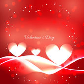 Valentine day red background with heart  — Vector de stock