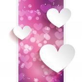 Valentine dag achtergrond met hart — Stockvector