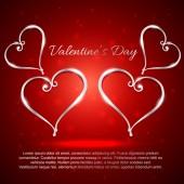 Valentine day hearts illustration — Stock Vector