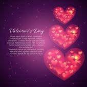 Valentine day beautiful hearts — Stockvector
