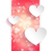 Hearts greeting card — Stockvector