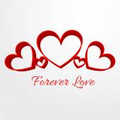 Forever love background — Stock Vector