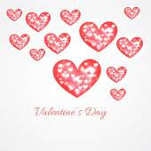 Valentine day hearts background illustration — Vector de stock