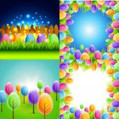 Bunch of easter background — Stock Vector