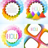 Colorful holi background collection — Stock Vector
