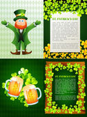Collection of saint patrick' s day background illustration — Stock Vector