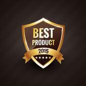 Best product of 2015 vector golden label design badge — Stock Vector