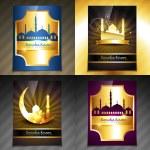 Vector set of attractive brochure of ramadan kareem festival — Stock Vector #73842371