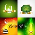 Vector attractive set of  ramadan kareem background — Stock Vector #73842573