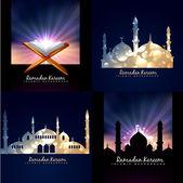 Vector collection of ramadan kareem background — Stock Vector