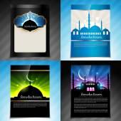 Vector set of ramadan kareem festival brochure design — Stock Vector