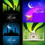 Vector collection of attractive design of ramadan kareem festiva — Stock Vector #74025083