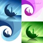 Vector creative set of ramadan festival background illustration — Stock Vector #74025953