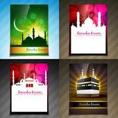 Vector set of attractive brochure of ramadan festival illustrati — Stock Vector