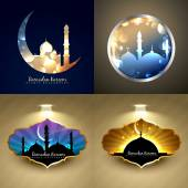 Vector set of attractive background of ramadan kareem festival — Wektor stockowy