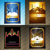 Vector attractive set of brochure of ramadan festival illustrati — Stock Vector