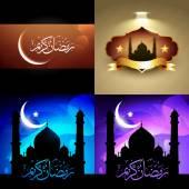 Vector set of attractive background of ramadan kareem festival — Stock vektor