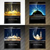 Vector attractive brochure of eid festival illustration — Vector de stock