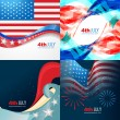 Vector collection 4th of july american independence day backgrou — Stock Vector #75922093
