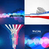 Set of american independence day background illustration — Stock Vector