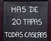 Exterior menu cartel in Barcelona - Spain — Stock Photo