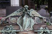 Gamla kyrkogården staty — Stockfoto