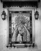 Catholic Altar in public street — Stock Photo