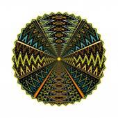 Round geometric motif isolated on white background — Stock Photo