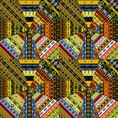 Set of different ethnic textures — Stock Photo