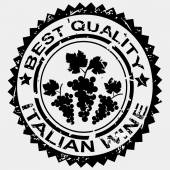 Grunge stamp quality label for Italian wine — Stock Photo