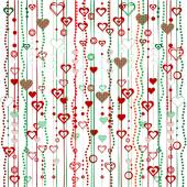 Christmas garlands with hearts — Zdjęcie stockowe