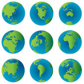 Earth globes set — Stock Photo