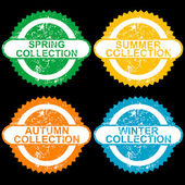 Grunge stamps with collections for each seasons — Foto de Stock