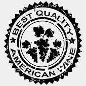 Grunge stamp, quality label for American wine — Stock Photo