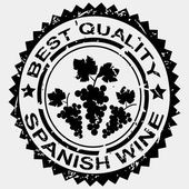 Grunge stamp, quality label for Spanish wine — Stock Photo