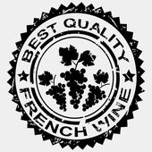 Grunge stamp, quality label for French wine — Stock Photo
