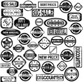 Rubber stamps with sale messages — Foto de Stock