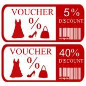 Set of discount vouchers — Stock Photo
