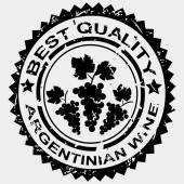 Stamp for Argentinian wine — Stock Photo