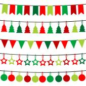 Christmas buntings — Stock Photo