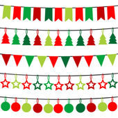 Christmas buntings — Stockfoto