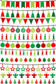 Christmas buntings and garlands — Stock Photo
