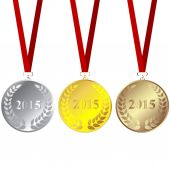 Set of 2015 medals — Stock Photo