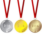 Set of 2016 medals — Stock Photo