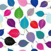 Seamless with colored leaves — Stock Photo